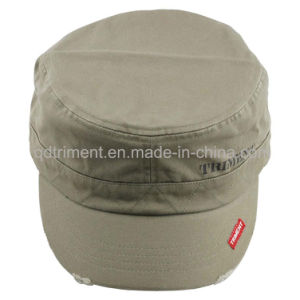 Distress Washed Screen Print Leisure Army Military Cap (TMM8150-1) pictures & photos