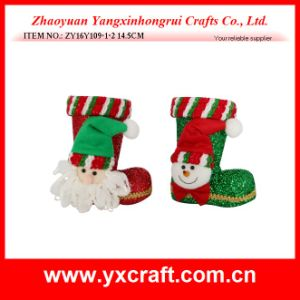 Christmas Decoration (ZY16Y109-1-2 14.5CM) Winter Boot Santa Claus Dolls pictures & photos