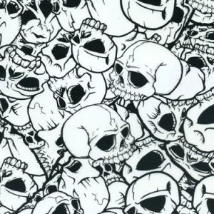 Kingtop 1m Width Skulls and Flame Design Film for Aqua Print Wdf12280 pictures & photos