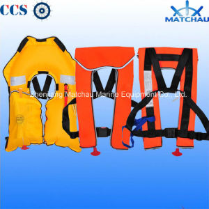 China 150n Inflatable Water Rescue Gear Vest Jackets pictures & photos