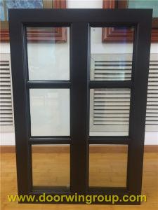 Dark Brown Aluminum Teak Wood Windows pictures & photos