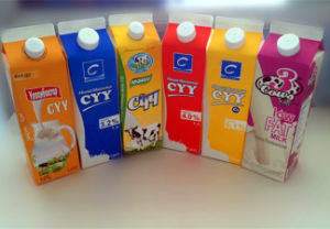 1000ml 3 Layer Pasteurized Milk Gable Top Carton pictures & photos