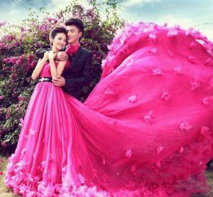 Fuchsia Ball Gowns Tiered Fashion New Quinceanera Dresses Z3019 pictures & photos