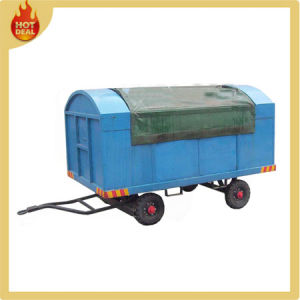 Hot-Galvanized Airport Covered Baggage Cart for Gse Equipment with Canopy pictures & photos