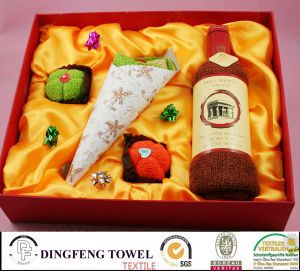 New Season Design Wedding Cake Gift Towel Sets pictures & photos
