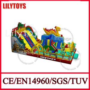 Amazing! 2015 Newest Customize Colorful Dragon Slide Inflatable Amusement Park Amusement Playground Equipment (Lilytoys-New-012)
