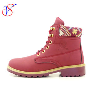 2016 New Style Women Work Boots Shoes for Job with Quick Release (SVWK-1609-029 WINE)