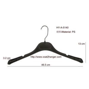 Non-Slip Black Plastic Clothes Hanger pictures & photos