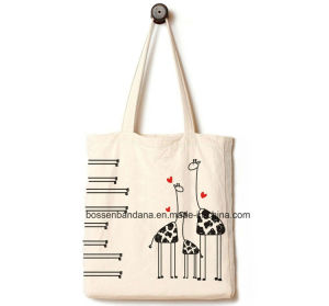 Custom Made Logo Printed Promotional Washable Cotton Canvas Tote Shopping Handbag pictures & photos