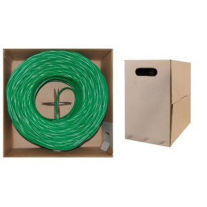 Green Color Cat5e UTP 4pairs 24AWG LAN Cable pictures & photos