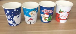 Disposable Company Logo Office Paper Cup pictures & photos