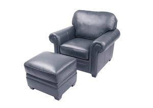 Living Room Furniture Navy Blue Leather Sofa Furniture pictures & photos
