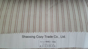 New Popular Project Stripe Organza Voile Sheer Curtain Fabric 0082106 pictures & photos