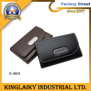 100% Genunine Leather Card Holder with Custom Logo (K-015) pictures & photos