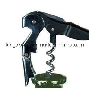 Portable Black Horn Corkscrew Wine Bottle Opener Beer Cap and Red Wine Opener pictures & photos
