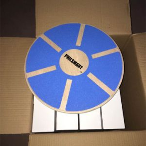 Bestseller Blue Wobble Wood/Wooden Balance Board pictures & photos