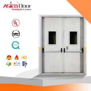 3.0 Hrs Fire Rating Steel Fire Door Thermal Insulation Core UL Standard pictures & photos