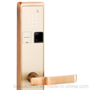 Keyless Touchscreen Smart Door Lock and Fingerprint Lock Plated in Gold pictures & photos