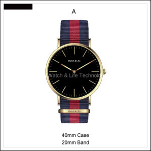 Promotion Nato Strap Colourful Mesh Band Fashion Men′s and Lady Wrist Watch pictures & photos