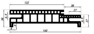Adjustable Waterproof Wood Plastic Composite WPC Door Frame (PM-160A-35) pictures & photos