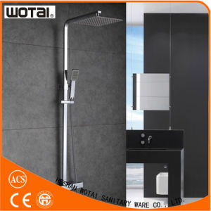 Squre Chrome Finished Square Thermostatic Shower Mixer pictures & photos