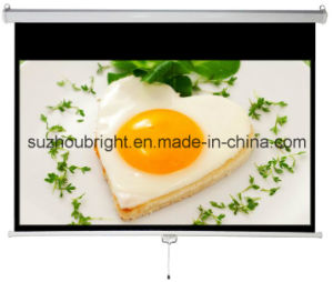 Manual Screen Projection Wall Mounted Projector Screen
