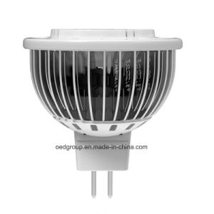 MR16 3W LED Spotlight with Aluminum Fins Material pictures & photos