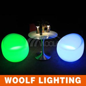 Leisure LED Lighting Big Round Rotating Sofa Chair pictures & photos