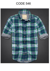 Men′s 100% Cotton Yarn Dyed Washing Casual Plaid Shirt (546) pictures & photos