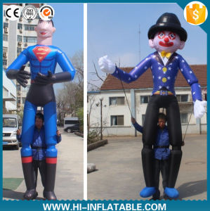 2016 Newwest Advertising Inflatable Moving Walking Cartoon Superman Characters with Long Legs pictures & photos