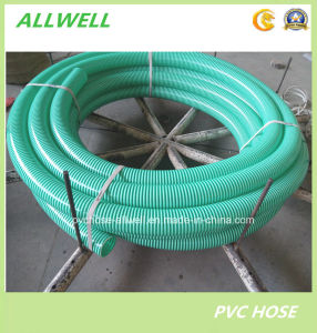 "PVC Flexible Spiral Reinforced Water Suction Pipe Hose 4"" pictures & photos"