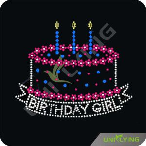 Delicious Birthday Cake New Hotfix Rhinestone Motif Design (CT0517)