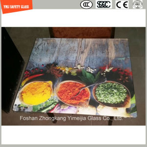4-19mm Digital Paint/ Silkscreen Print/Acid Etch/Frosted/Pattern Safety Tempered/Toughened Glass for Chop Board, Table Top with SGCC/Ce&CCC&ISO pictures & photos