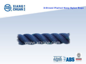 3 Strand Plaited Navy Nylon Rope pictures & photos