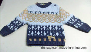 Boys Intarsia Acrylic Jumper - True Knitted Sweater pictures & photos