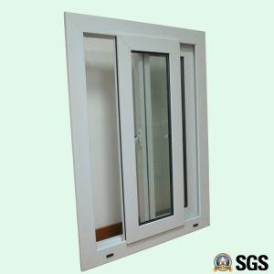 White Colour UPVC Profile Sliding Window with Special Edge K02080 pictures & photos