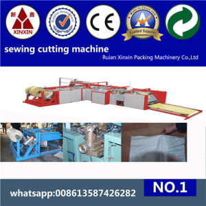 Rolling PP Woven Sack Cutting and Stitching Machine pictures & photos