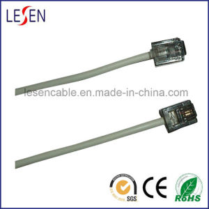 Round Telephone Cable with 6p2c Plugs pictures & photos