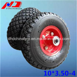Professional Manufacturer 10*3.50-4 Wheelbarrow Pneumatic Wheel Rubber Wheel