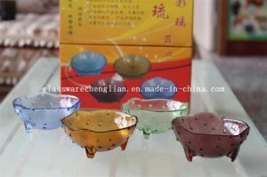 Various Solid Colors &Designs of Machine-Made Glass Bowl (P-023) pictures & photos