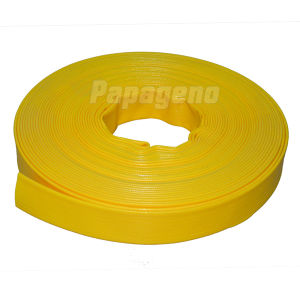 4 Inch Yellow Smooth Surface PVC Layflat Pipe pictures & photos