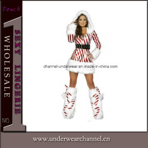 Fashion Santa Sexy Dress Women Clothes Christmas Costume (1028) pictures & photos