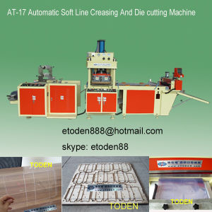 Rigid PVC Pet Box Crease and Die Cut Machine