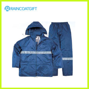 Waterproof Polyester Reflective Motorcycle Raincoat pictures & photos
