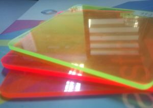 Cut to Size Fluorescent Colors Cast Acrylic Sheets pictures & photos