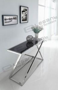 2013 Stainless Steel Console Table/Tempered Glass Shelf -Ca208s pictures & photos