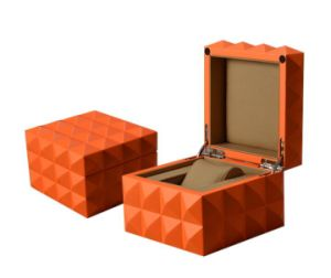 Orange Painting Wooden Watch Box pictures & photos