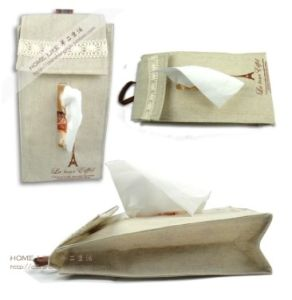 Fashion Cotton and Linen Hanging Receive Tissue Box (MU1017) pictures & photos