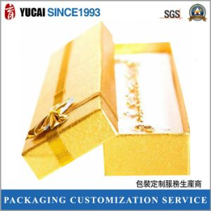Golden Jewelry Gift Paper Box for Women pictures & photos