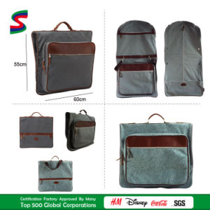 Garment Handbags in Durable Waxed Canvas/Felt Leather Suitcover Suit